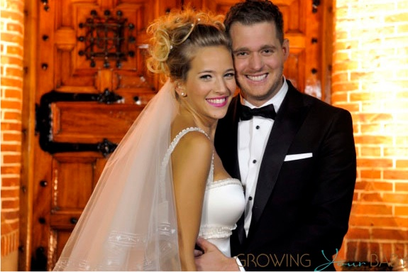 Michael Buble and wife Luisana Lopilato wedding