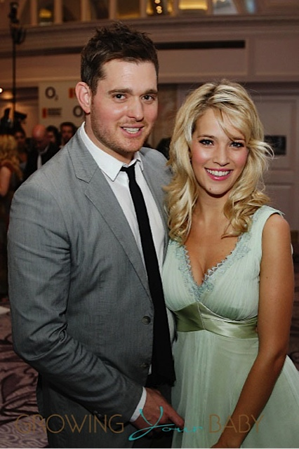 Michael Buble and wife Luisana Lopilato