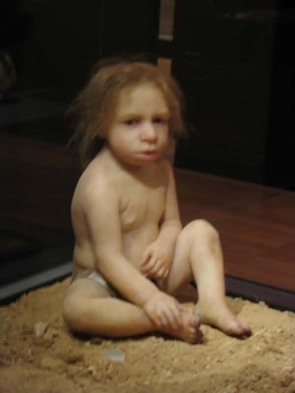 Neanderthal Baby Neanderthal child image via
