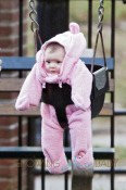 Drew Barrymore's baby Olive spends the afternoon with the nanny in New York City
