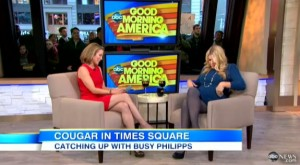 Pregnant Busy Philipps being interviewed on Good Morning America