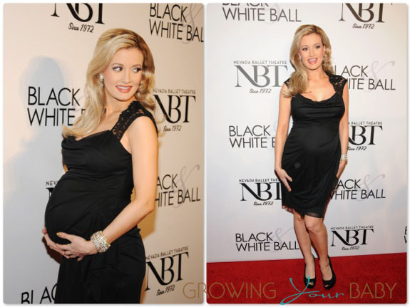 Pregnant Holly Madison at the Black & White Ball