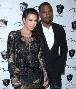 Kim Kardashian and Kanye West out at 1 Oak Nightclub at The Mirage Resort and Casino Las Vegas, NV