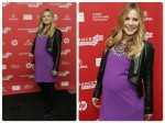 Pregnant Kristen Bell at the Lifeguard premiere at Sundance