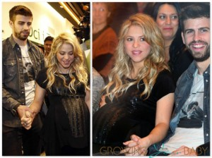 Pregnant Shakira and Gerard Pique in Spain