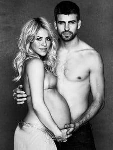 Pregnant shakira & Gerard Pique