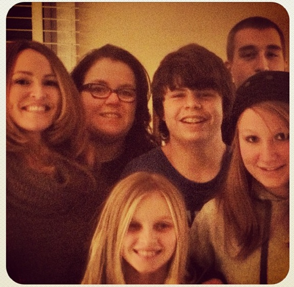 Rosie O'Donnell with Michelle Rounds and children, Parker, Chelsea, Blake and Vivienne