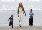 Sheryl Crow Seen At The Beach With Her Children
