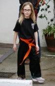 Jennifer Garner takes Violet and Seraphina to Karate class in Santa Monica, CA