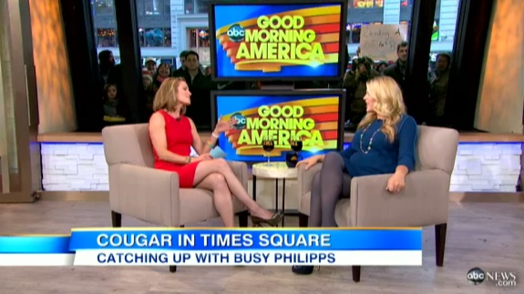 Pregnant Busy Philipps Good Morning America Growing