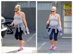 pregnant Busy Phillipps working out in LA
