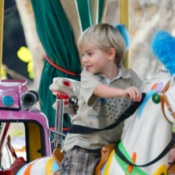 Penny Lancaster and Alastair Ride the Carousel in Cannes