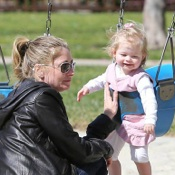 Eric Dane and Rebecca Spend The Day Out With Their Girls