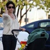 Neve Campbell Enjoys An Early Morning Stroll With Son Caspian