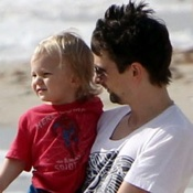 Matt Bellamy Hits The Beach With Sons Bing & Ryder