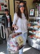 Alessandra Ambrosio visits Crumbs to pick up Valentines Treats