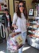 Alessandra Ambrosio visits Crumbs to pick up Valentines Treats