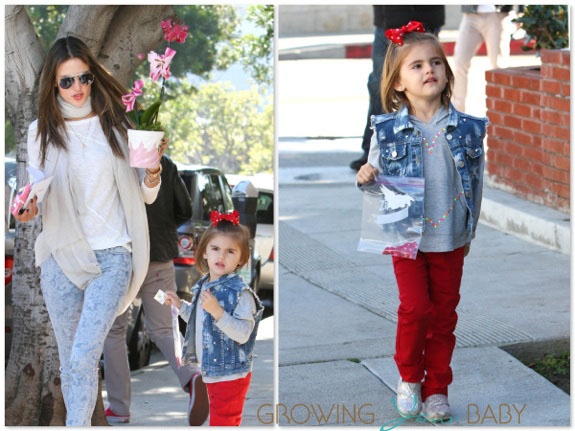 Alessandra Ambrosio with daughter Anja Valentines Day
