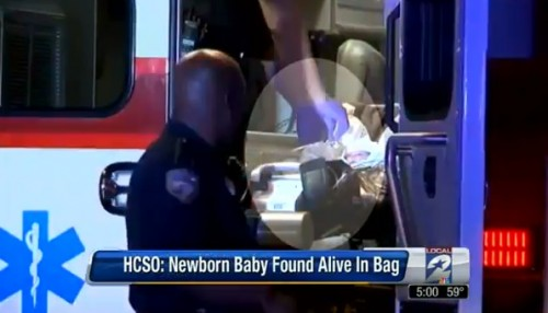 Baby Abandoned in a plastic bag - Texas
