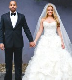 CaCee Cobb and Donald Faison wedding