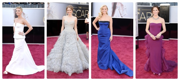 Celebrity moms on the red carpet at the 85th Annual Academy Awards