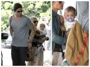 Chris Hemsworth, Elsa Pataky and India Hemsworth in Santa Monica