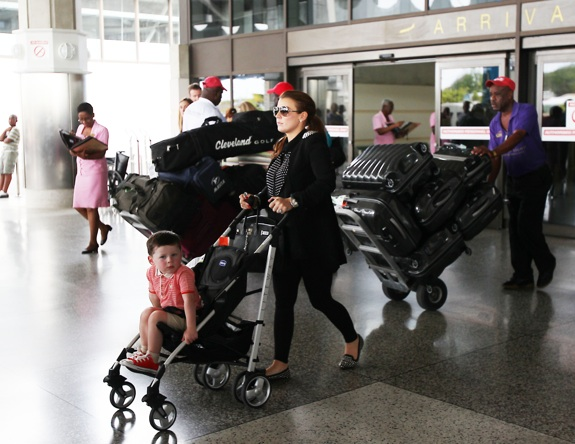 Heavily pregnant Coleen Rooney and family are spotted at Barbados airport shortly after arriving on a fight from the UK