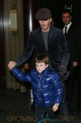 David Beckham takes sons Brooklyn, Romeo and Cruz, for dinner with Tana Ramsay and her children at Tamarind restaurant in London