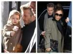 David and Victoria Beckham in NYC with daughter Harper