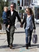 Eric Dane and Rebecca Gayheart Walking Around LA