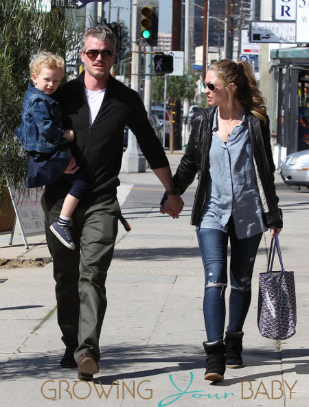 Eric Dane and Rebecca Gayheart Walking Around LA