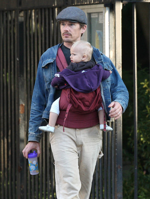 Ethan Hawke and daughter Clementine have the same facial expression, NYC