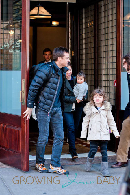 Jason Bateman And His Family Leave Their Hotel