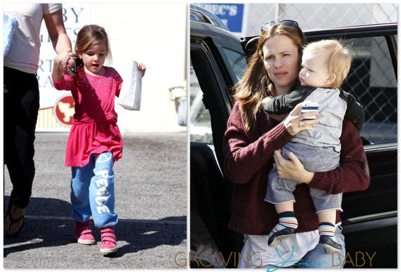 Jennifer Garner out with son Samuel and Seraphina Affleck