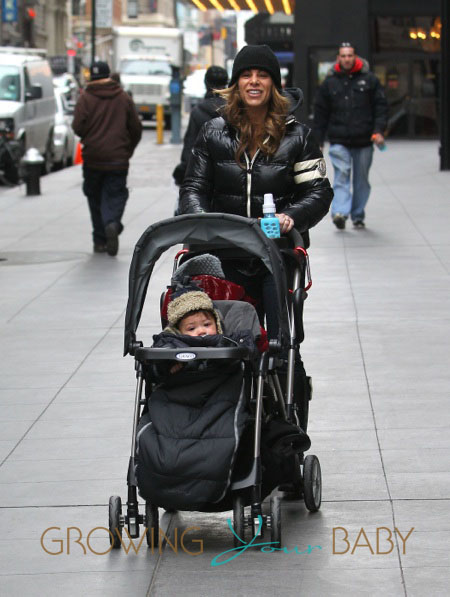 Jillian Michaels Takes A Walk With Her Children
