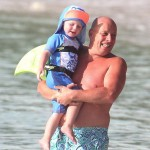 Kai rooney with his grandpa