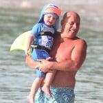 Kai rooney with his grandpa