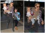 Kate Hudson and her sons Ryder and Bingham, catch a flight out of Los Angeles