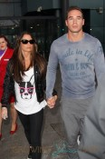 Katie Price and new husband Kieran Hayler arrive at Heathrow airport