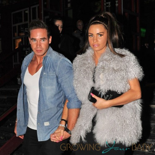 Katie Price and her new husband Kieran Hayler enjoy Valentine's night out in London