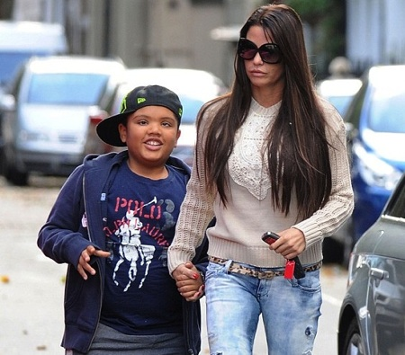 Katie Price with son Harvey