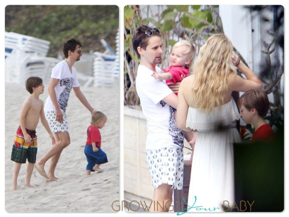 Matt Bellamy and Kate Hudson at the beach in Miami