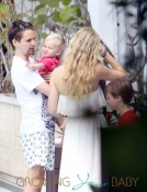Actress Kate Hudson and fiance Muse singer Matthew Bellamy are spotted with their kids Ryder and Bingham while on holiday in on Miami