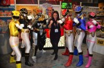 Me hanging out with the Power Rangers at Toy Fair 2013