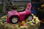 Mega Bloks pink Jeep ride ons