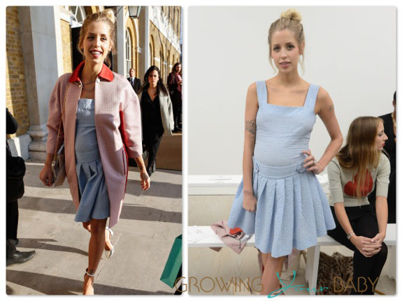 Peaches Geldof at Vivienne Westwoods RED Label show on Sunday