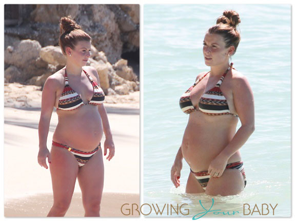 Pregnant Coleen Rooney in Barbados