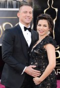 Pregnant Jenna Dewan & Channing Tatum red carpet at the 85th Annual Academy Awards