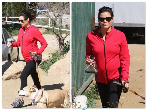 Pregnant Jenna Dewan hiking out in LA