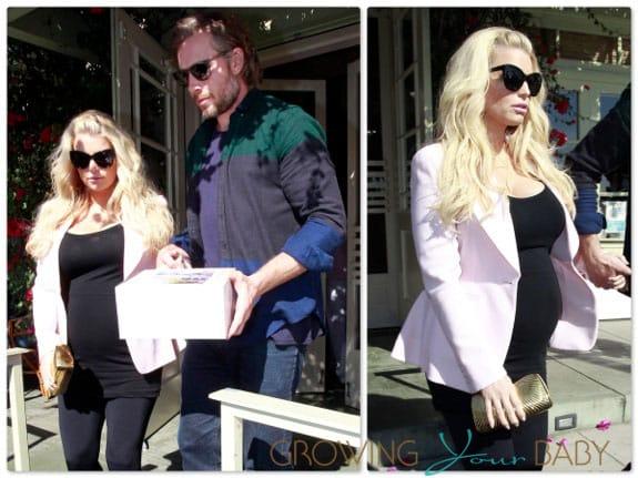 Pregnant Jessica Simpson and Eric Johnson out in LA